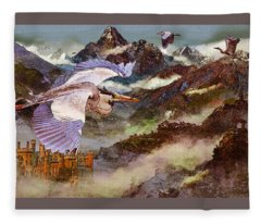 Goblin Gloaming Bird Fleece Blanket