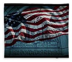 God Country Notre Dame American Flag Fleece Blanket