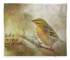 God Is My Refuge Fleece Blanket