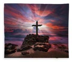 God Is My Rock Special Edition Fine Art Fleece Blanket