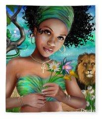 Goddess Bastet Fleece Blanket