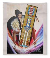 The  Tet Of Osiris Fra Blaa  Kattproduksjoner  Fleece Blanket