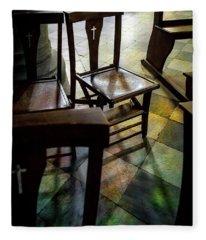 God's Chair Fleece Blanket