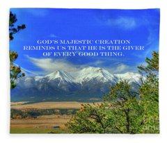 God's Majestic Creation Fleece Blanket