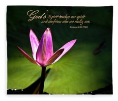 God's Spirit Fleece Blanket