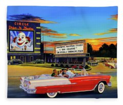 Goin' Steady - The Circle Drive-in Theatre Fleece Blanket