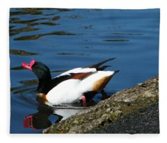 Going For A Swim Fleece Blanket