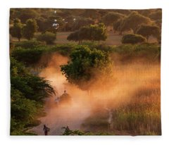 Fleece Blanket featuring the photograph Going Home At Sunset by Pradeep Raja Prints