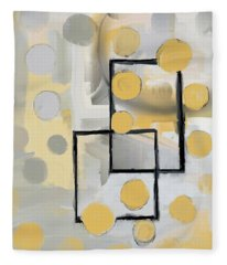 Gold And Grey Abstract Fleece Blanket