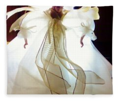 Gold And White Angel Fleece Blanket