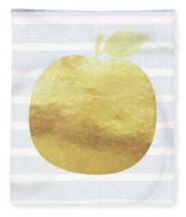 Gold Apple- Art By Linda Woods Fleece Blanket