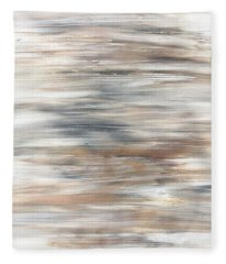 Gold Coast #20 Gold Landscape Original Fine Art Acrylic On Canvas Fleece Blanket