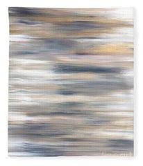 Gold Coast #21 Landscape Original Fine Art Acrylic On Canvas Fleece Blanket