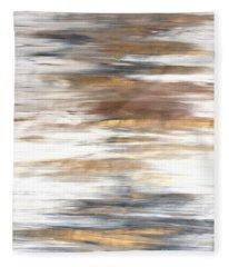 Gold Coast #22 Landscape Original Fine Art Acrylic On Canvas Fleece Blanket