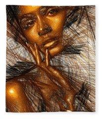 Gold Fingers Fleece Blanket