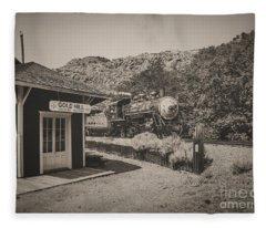 Gold Hill Station Fleece Blanket