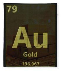 Gold Periodic Table Fleece Blanket