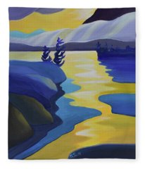 Gold Rush Fleece Blanket