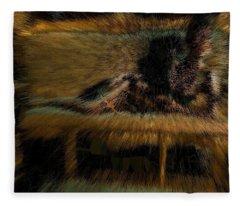 Gold Sofa Feline Fleece Blanket