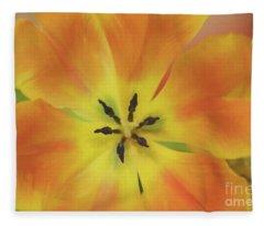Gold Tulip Explosion Fleece Blanket