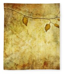 Golden Branch Of Hope  Fleece Blanket