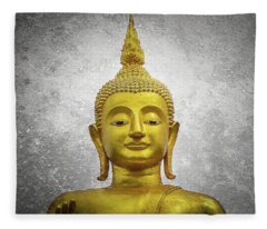 Golden Buddha Fleece Blanket