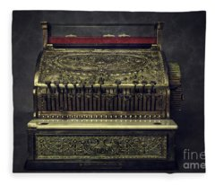 Golden Cash Register Fleece Blanket