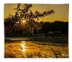 Golden Centerport Fleece Blanket