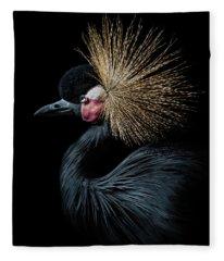Golden Crown Fleece Blanket