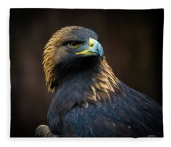 Golden Eagle 3 Fleece Blanket