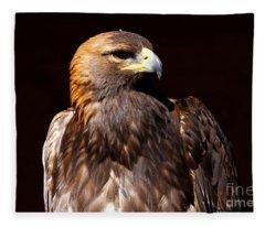 Golden Eagle - At Rest Fleece Blanket