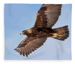 Golden Eagle Flight Fleece Blanket