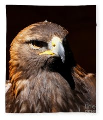 Golden Eagle - Portrait Fleece Blanket