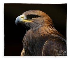 Golden Eagle Strength Fleece Blanket