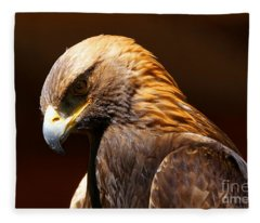 Golden Eagle - The Thinker Fleece Blanket