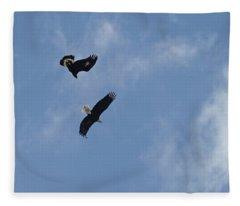 Golden Eagle Vs. Bald Eagle Fleece Blanket