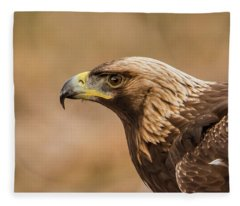 Golden Eagle's Portrait Fleece Blanket