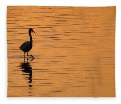 Golden Egret Fleece Blanket