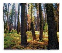 Golden Forest Bed Fleece Blanket
