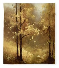 Golden Forest Fleece Blanket