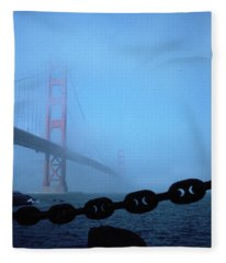 Golden Gate Bridge From Fort Point Fleece Blanket