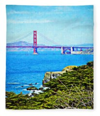 Golden Gate Bridge From The Coastal Trail Fleece Blanket