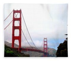 Golden Gate Bridge Full View Fleece Blanket