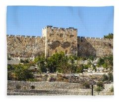 Golden Gate Jerusalem Israel Fleece Blanket