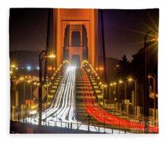 Golden Gate Traffic Fleece Blanket