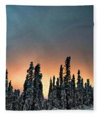 Golden Glow And Moonlight Fleece Blanket