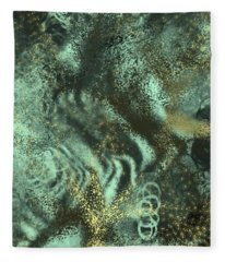 Golden Green Fleece Blanket