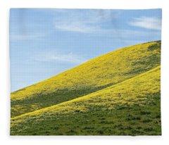 Golden Hills Of California Fleece Blanket