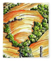 Golden Hills Of California Fleece Blanket