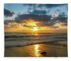 Golden Hour At Grandview Fleece Blanket